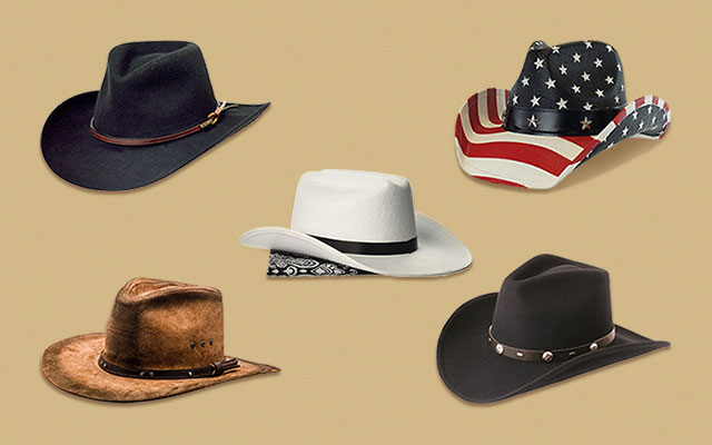 Western Hat Cowboy Brown is made of a leather-like fabric Fits most Adults