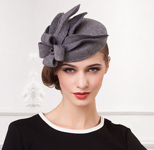 Greasy and dirty hair will help to stick pins of the fascinator better and  hold it more securely. Hence 16c55053302